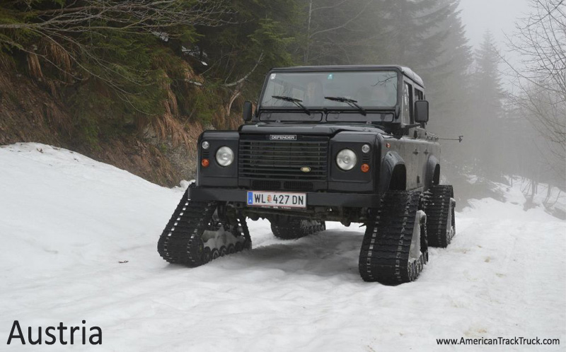 Austria Land Rover Defender Truck Snow Track Kit