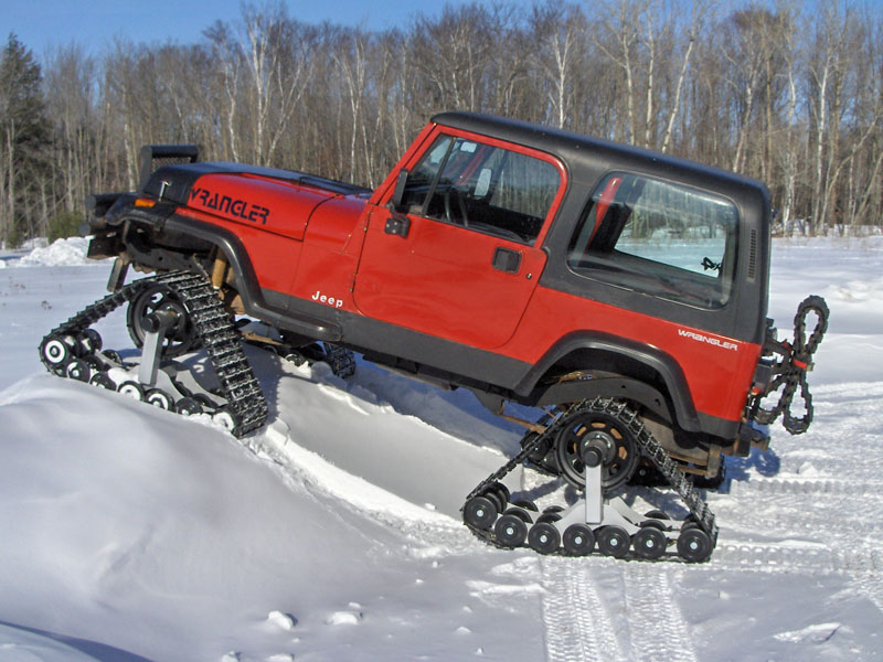 Jeep Wrangler with Tracks